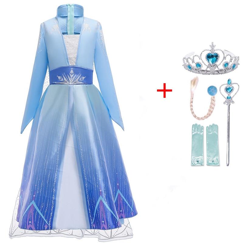 Autumn Winter Elsa Dress Girls Clothes Halloween Party Dress up Chidlren Clothing Christmas Kids Dresses for Girls Size 4-10Yrs 4