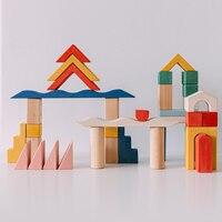 Architect Serie Grote Huis Geïmporteerde Hout Massief Houten Bouwsteen Assembleren Speelgoed Milieuvriendelijke Kinderen Blok Speelgoed
