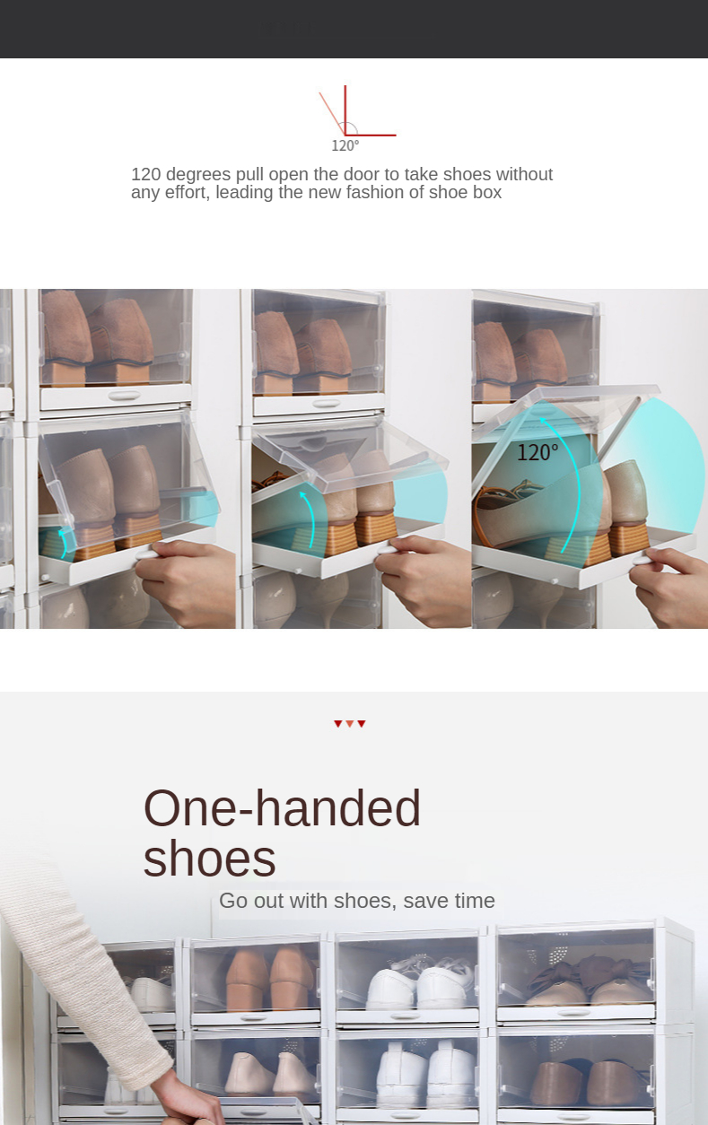 The new transparent shoe box plastic thickened moisture proof ...