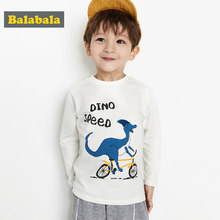 Balabala Boys Long Sleeve T-shirt Baby Children Kids 2020 Spring New Cartoon Little Dinosaur Fashion Trend(China)