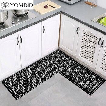Yomyd-alfombra de cocina larga para baño felpudo para entrada del hogar, absorbente,...