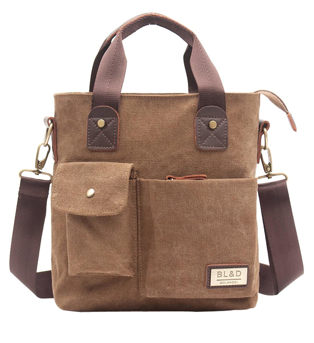 Canvas Leather Crossbody Bags Men Messenger Shoulder Man Handbags Quality Luxury Designer Big Brand Masculina Large Space Bag