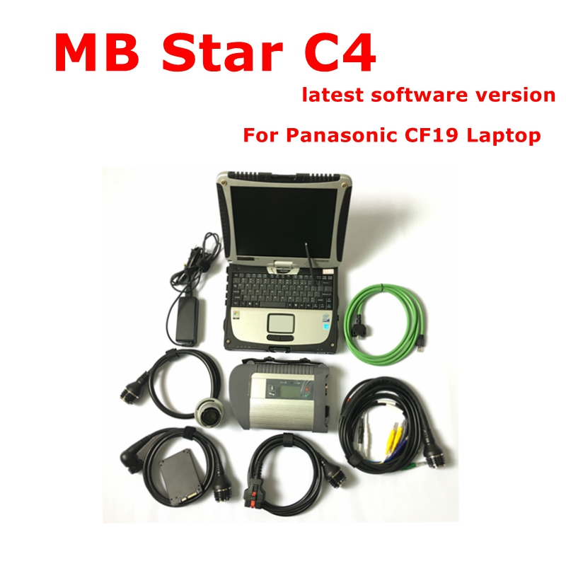 2020 Best Quality MB STAR C4 SD Connect Compact C4 Software 2019.12V Mb Star Multiplexer Diagnostic Tool CF19 Laptop Ready Use