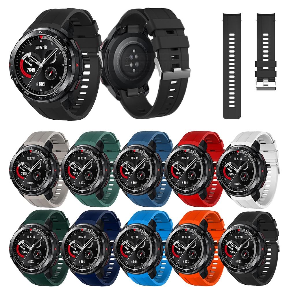 22mm banda para huawei honor gs pro banda esporte silicone relógio de pulso pulseira substituição para honra gs pro relógio acessórios