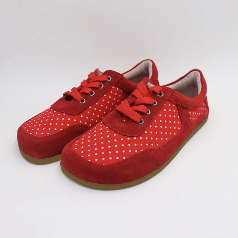 Barefoot Sneakers Red Dot For Women - WIDE VERSION SIRSI VERZE