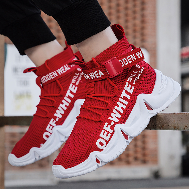 2019 New Outdoor Men Free Running for Men Jogging Walking Sports Shoes High-quality Lace-up Athietic Breathable High Sneakers