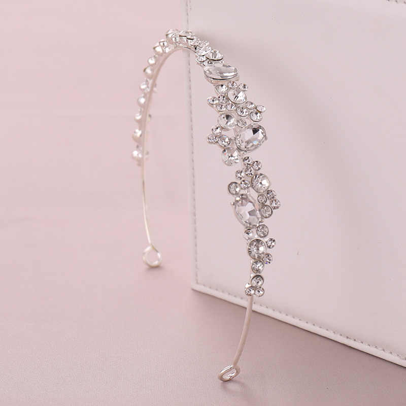 Heißer Verkauf Gold/Silber Farbe Strass Kristall Tiara Haar Hoop Stirnband Hairband Mädchen Frauen Braut Noiva Hochzeit Haar Zubehör