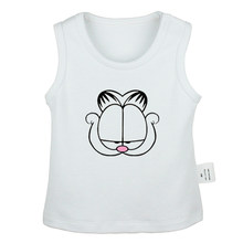 Cartoon Duck Garfield Cat Christmas hats Newborn Baby Tank Tops Toddler Vest Sleeveless Infant Cotton Clothes(China)