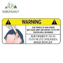 EARLFAMILY – autocollant de voiture drôle, pour culottes davertissement, Peek Slap, autocollant mural en vinyle, Anime JDM fenêtre
