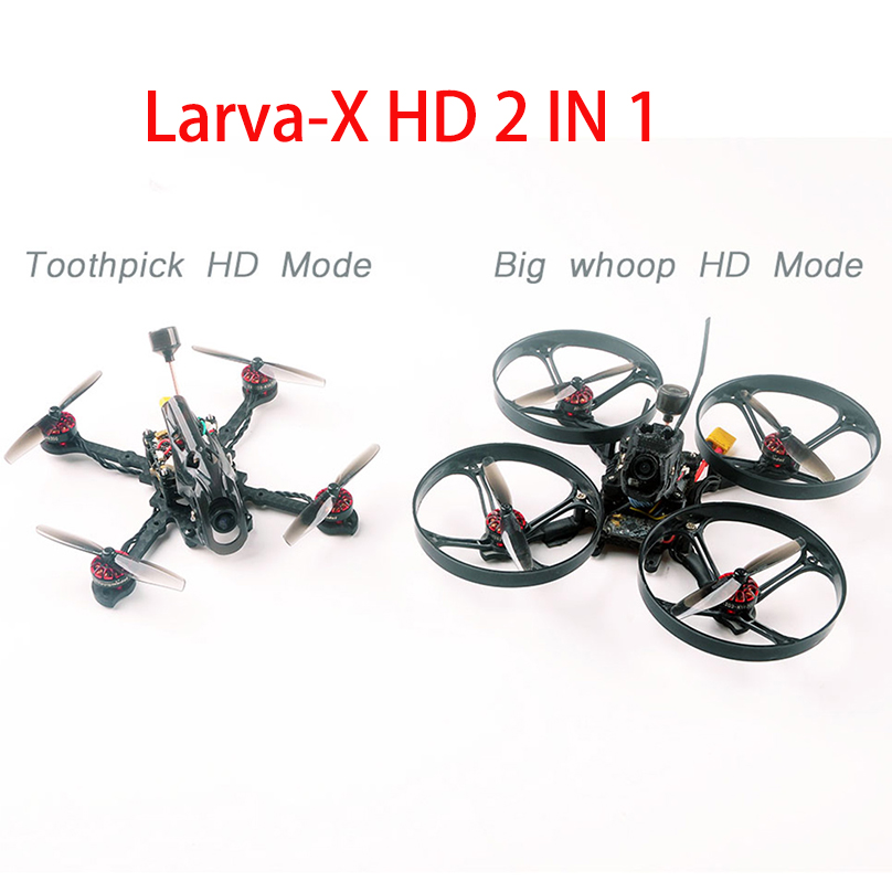 Happymodel Larva-X HD Micro FPV Drone Toothpick HD and BWhoop HD 2 in 1 2-4S CRAZYBEE F4FR PRO V3.0 Flight Controller turtle Cam
