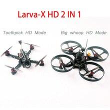 Happymodel larva x HD Micro FPV Drone mondadientes HD y BWhoop HD 2 en 1 2 4S CRAZYBEE F4FR PRO V3.0 controlador de vuelo tortuga Cam