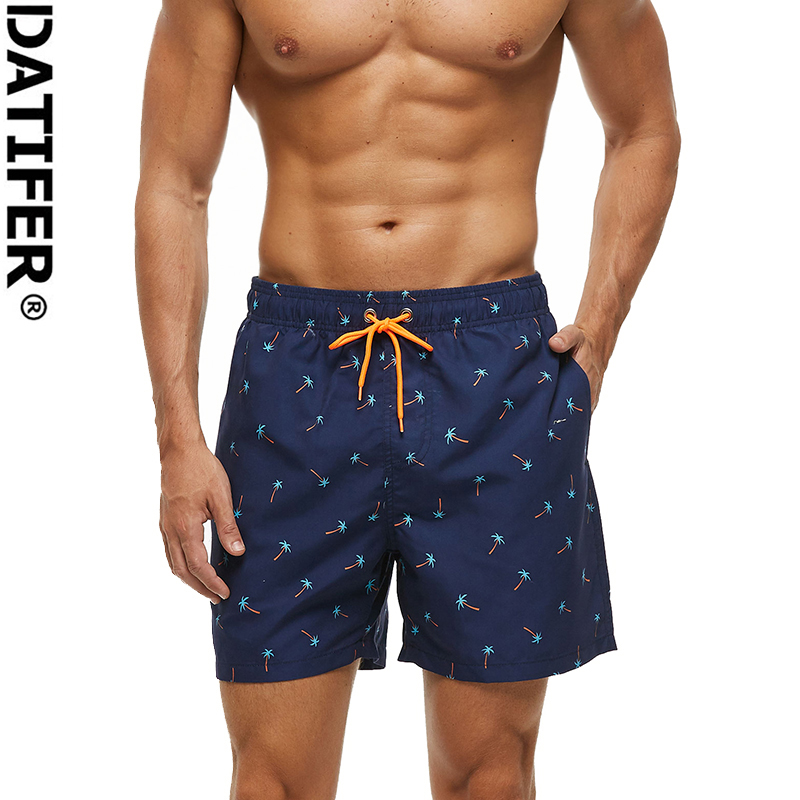 Mens Color Multi-Element Summer Holiday Quick-Drying Swim Trunks Beach Shorts Board Shorts