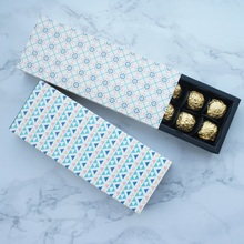 24*9*3.5CM 10 set geometry 2 style mix Chocolate Paper Box valentines day Christmas Birthday Party Gifts Packing Storage Boxes