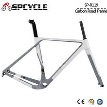 Aero Carbon Gravel Bicycle Frame T1000 Carbon Cyclocross Bike Frameset Disc Brake Road Bike Frame Front 100*12mm Rear 142*12mm carbon road bike frame 2018 t1000 racing bike frame cycling carbon road bicycle frame 46 49 52 54 56 58 carbon frame