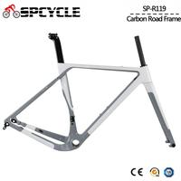 Aero Carbon Gravel Bicycle Frame T1000 Carbon Cyclocross Bike Frameset Disc Brake Road Bike Frame Front 100*12mm Rear 142*12mm