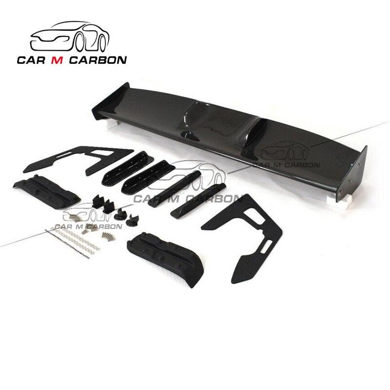 Alerones traseros de carbono GT R35 LB diseño ala trasera cabron