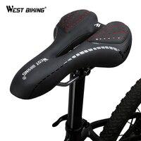 WEST RADFAHREN Bike Sattel Komfortable Kissen MTB Fahrrad Zubehör Atmungsaktive Soft Sitz Stoßfest Silica Gel PU Kissen-in Fahrradsattel aus Sport und Unterhaltung bei