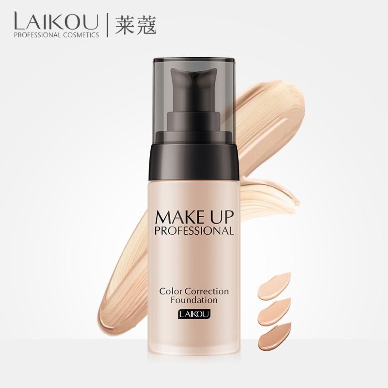 Laikou основа для макияжа лица жидкий крем консилер Foundation отбеливающий увлажняющий контроль масла водонепроницаемый Maquiagem 40 г
