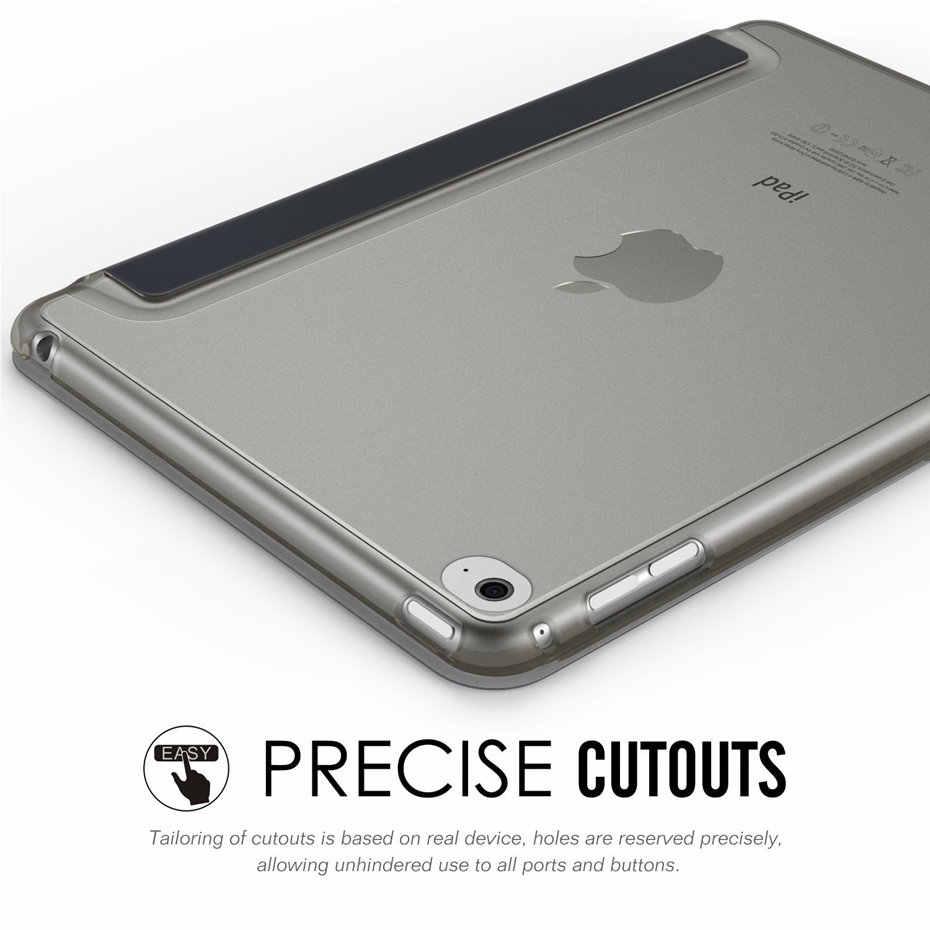 QIJUN حافظة لجهاز iPad برو 9.7 بوصة 2016 حالات حامل السيارات النوم الذكية PC الغطاء الخلفي لباد A1673 A1674 Fundas حالة وقائية