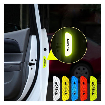 4Pcs/Set Car Door Stickers DIY auto OPEN Reflective Tape for BMW 760Li 320d 135i 335is Scooter Gran E36 F30 image