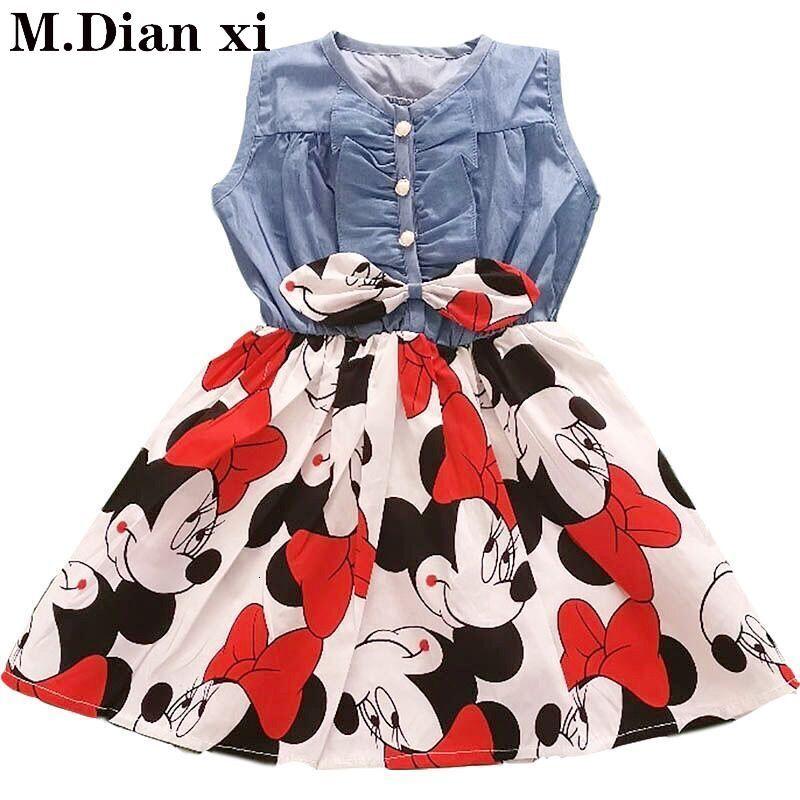 ミニー洗礼新 2020 ノースリーブ子供ドレス女の子服パーティーvestidos 6 7 8 誕生日カウボーイドレス