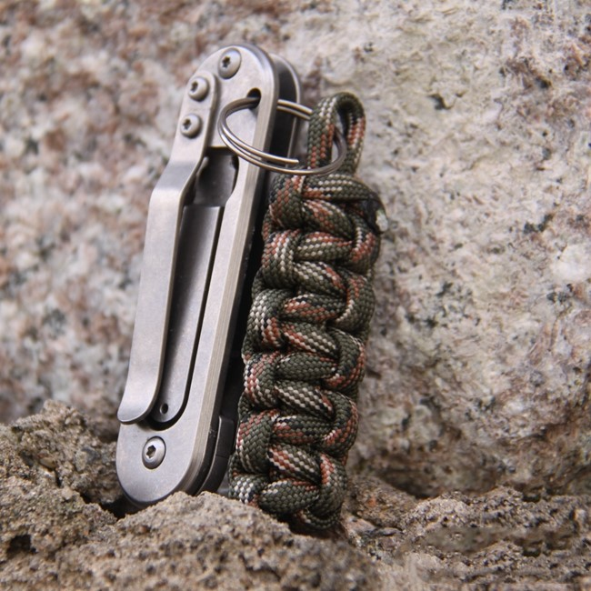 7 Core Reflective Paracord Pendant Paracord Keychain With Key Ring EDC