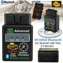 Автомобильный сканер с Bluetooth ELM327 HH V2.1 OBD2, диагностический сканер ошибок для автомобиля, Android Torque UK, Автомобильный сканер ошибок, декодер
