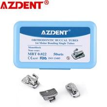 AZDENT – Tube orthodontique dentaire, 1ère molaire buccale, monoblocage Non Convertible, simple MBT 0.022, 50 jeux = 200 pièces