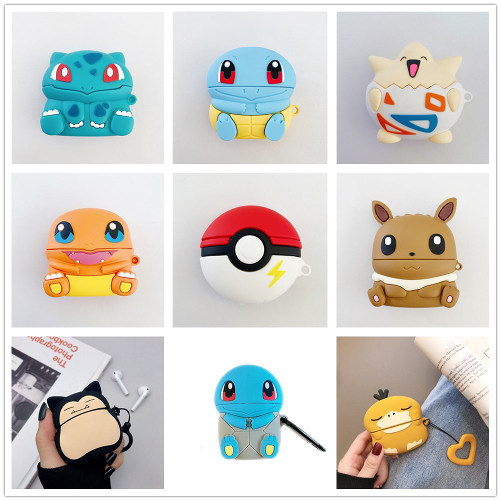 Cute 3D Cartoon Case For Pokemon Protectiver Case For Airpods Pro Case Cover Ball Airpod Pro Charging Case With Keychain