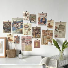 Decorative-Card Photo-Props Background Wall-Sticker 13-Sheets Collocation Retro Ins Gourmet
