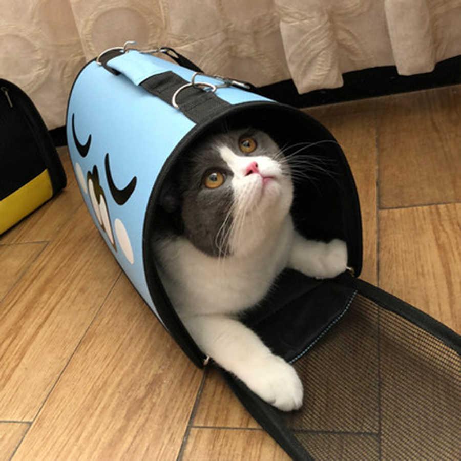 Mèo Tàu Sân Bay Túi Mèo Túi Nữ Du Lịch Tàu Sân Bay Con Chó Con Thú Cưng Sản Phẩm Transporte Transportadora Gato Mascotas Canvas Túi EE5MB