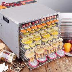 COSTWAY Professional 10 Trays Stainless Steel Food Dehydrator Fruit Dryer Machine EP22605