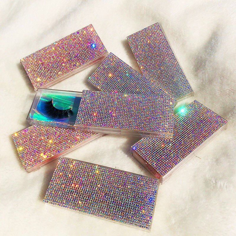 Custom Packaging Glitter Rhinestone Lash Case 3D 5D Mink Eyelashes