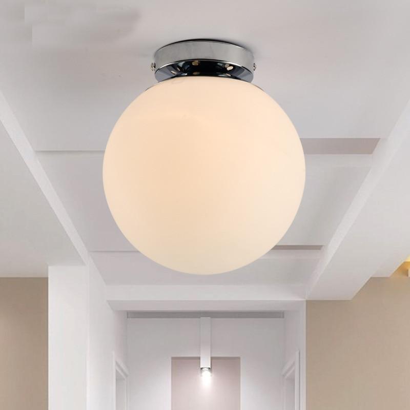 Современный минималистичный матовый стеклянный потолочный светильник Арт белый шар Ресторан гостиная бар украшение потолочная лампа - Цвет корпуса: A