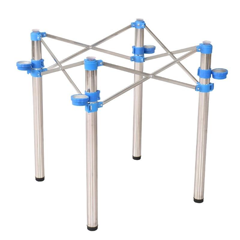 Desk Frame Stainless Steel Mahjong Table Leg Bracket Folding Frame Adjustable Shrink Table Foot Fast Table Foot Wrought Iron