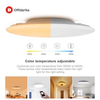 Moderne Led Smart Plafondlamp Wifi/App Intelligente Control Plafondlamp Rgb Dimbaar 48W  5