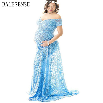 Maternity Lace Dresses Photo Shoot Pregnant Women Sexy V Neck Maxi Gown Dress Pregnancy Baby Shower Photography Props Clothes sexy v neck pregnancy dresses split front maternity shoot dress photography long pregnant women maxi maternity gown photo props