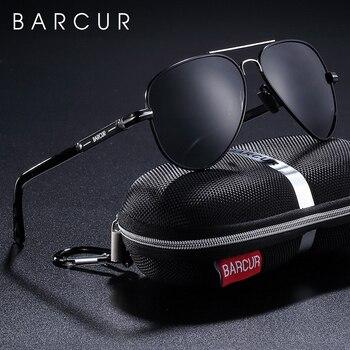 цена на BARCUR Polarized Mens Sunglasses Pilot Sun glasses for Men accessories Driving Fishing Hiking Eyewear Oculos Gafas De Sol