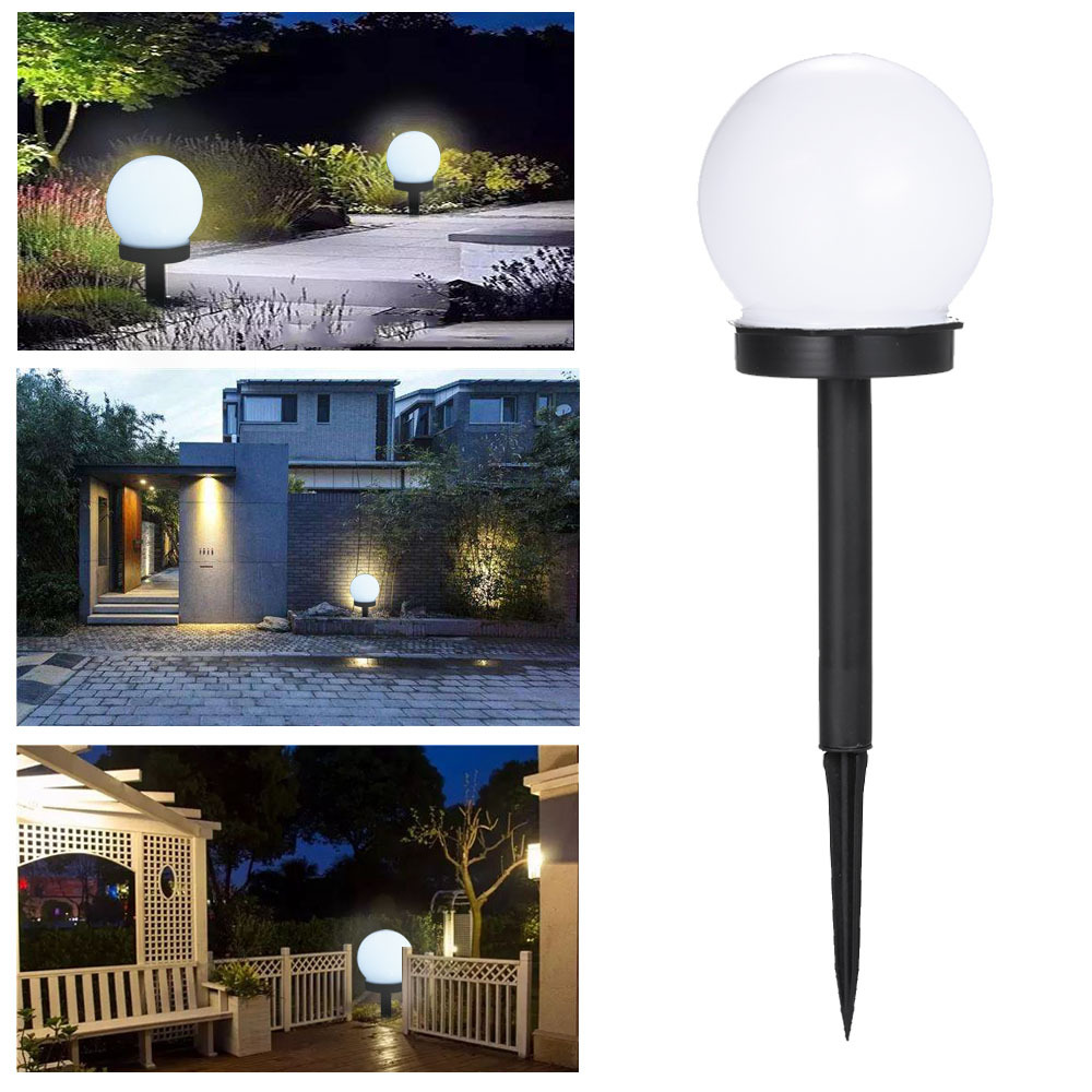 2piece   2019 LED Solar Power Outdoor Garden Path Yard Ball Light Lamp Lawn Road Patio Garden Courtyard Lawn Road Ground Light