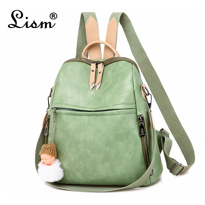 Women 's Backpack 2019 New Fashion Wild Quality Soft Leather Leisure Travel Large Capacity Bag