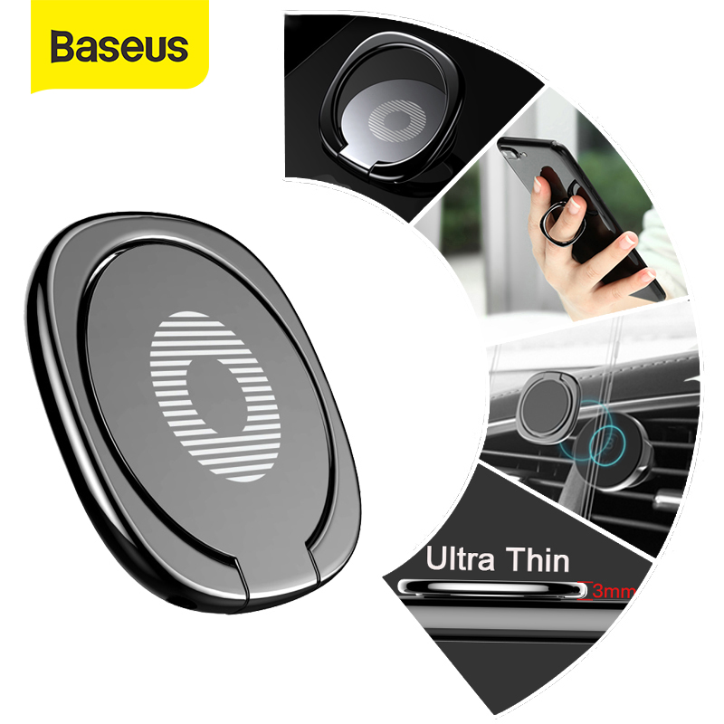 Baseus Metal Finger Ring Holder For IPhone 11 X Samsung Phone Ring Mobile Phone Holder Stand For Magnetic Car Phone Holder Stand
