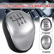 5/6เกียร์ธรรมดา Shift Knob Lever Boot สำหรับ Ford Mondeo IV S MAX C MAX Transit MK2 MK3 Kuga