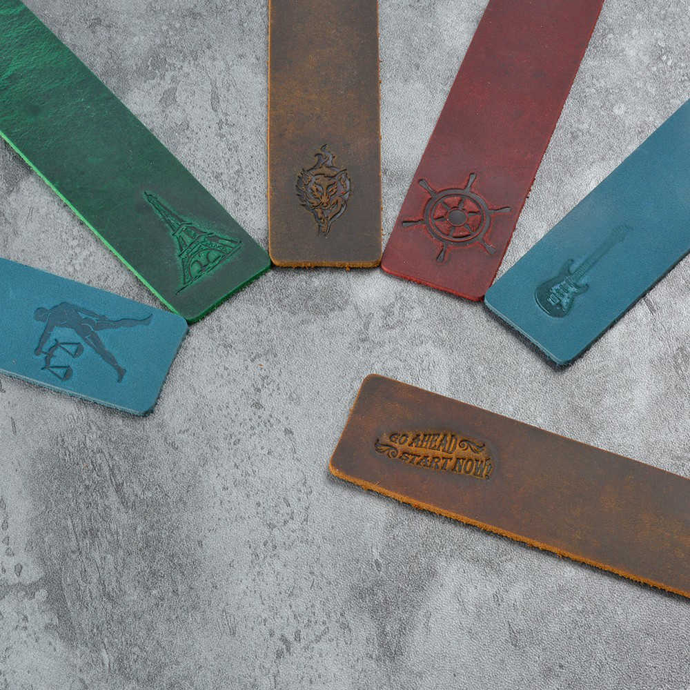 Genuine Leather BOOKMARKS x 100 Perfect Reading Accessory Asst colours