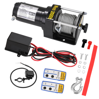 12.0V/24V Vehicle Electric Winch Mounted Winch Off-road Vehicle Winch Field Self Rescue Small Winch Lifting and Hauling Tools