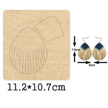 Модные веерообразные висячие серьги с кисточками режущие штампы
