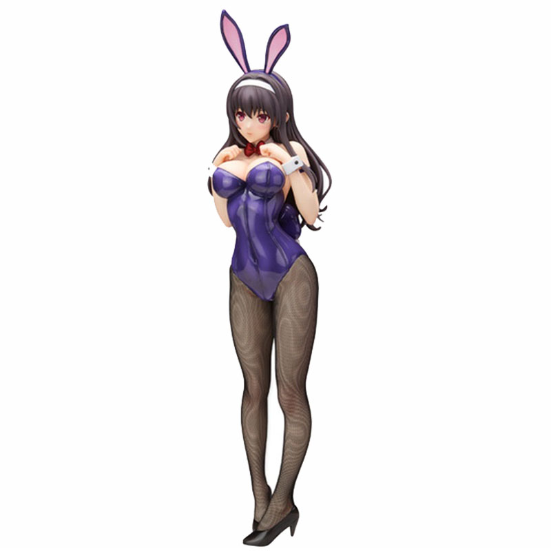 46cm Japanese Anime Figures Kasumigaoka Utaha Bunny Ver. <font><b>1/4</b></font> <font><b>Sexy</b></font> Girl PVC Action Figure Model Toy image