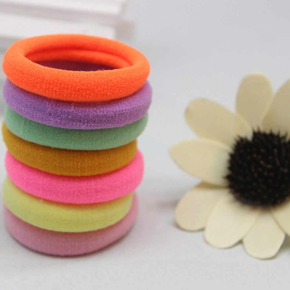Accesorios de herramientas de estilismo profesional para el cabello 20 Uds. Bandas elásticas para pelo para niñas cuerda coleta pulsera cuerda de goma D301108
