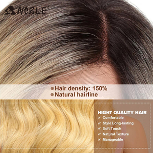 Image 5 - Noble Hair Lace Front ombre blonde Wig 28 inch Long wavy red african american Synthetic Wigs For Black Women 2 COLOUR Free Ship