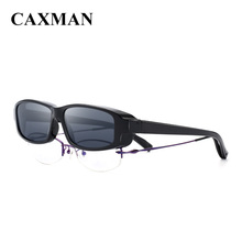 CAMXAN Polarized Fits Over Glasses Sunglasses for Prescription Eye Glasses Extra Small Size Grey Lens 100 UV Protection cheap CAXMAN WOMEN Square Adult Plastic Polaroid CX34006 Eyewear