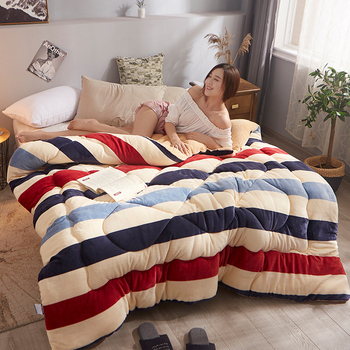 Simple Design Pure Color Comforter Warm Winter Fabric Polyester Filling Thickening Bed High Quality Filler/filling Blanket